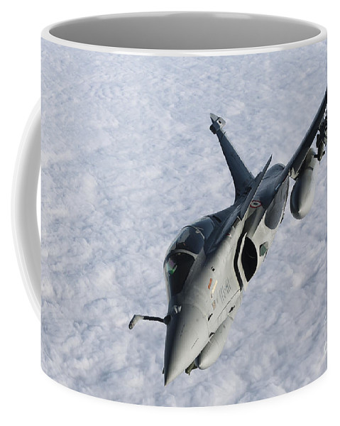 French Air Force Coffee Mug featuring the photograph Dassault Rafale B Of The French Air by Gert Kromhout