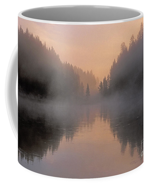 Bronstein Coffee Mug featuring the photograph Dawn On The Yellowstone River by Sandra Bronstein