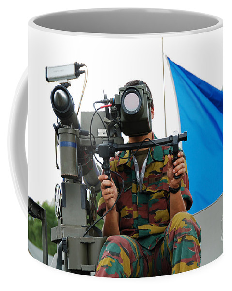Armament Coffee Mug featuring the photograph Demonstration Of The Mistral Surface by Luc De Jaeger