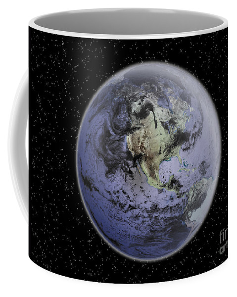 Color Image Coffee Mug featuring the photograph Digitally Enhanced Image Of The Full by Stocktrek Images