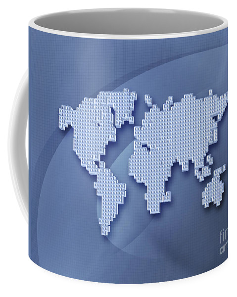 Abstract Coffee Mug featuring the photograph Digitally Generated Image Of The World by Vlad Gerasimov