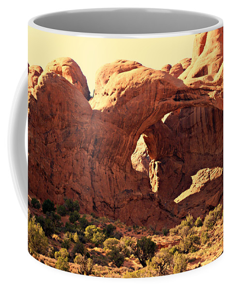 Arches National Park Coffee Mug featuring the photograph Double Arch by Marty Koch