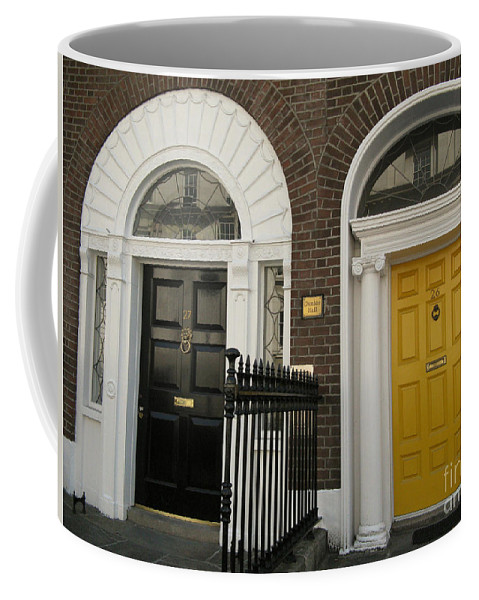 Closed Door Coffee Mug featuring the photograph Dublin Doors by Arlene Carmel