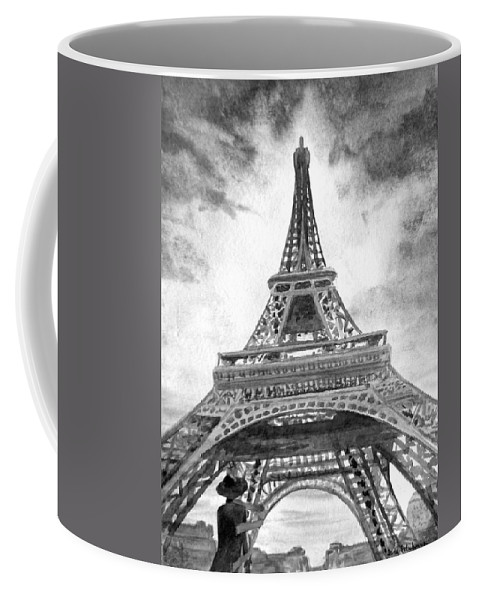 Eiffel Coffee Mug featuring the painting Eiffel Tower Paris France by Irina Sztukowski