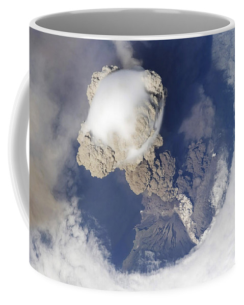 Summit Coffee Mug featuring the photograph Eruption Of Sarychev Volcano by Stocktrek Images