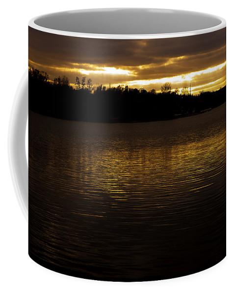 Sunset Coffee Mug featuring the photograph Fall Sunset by Edward Peterson