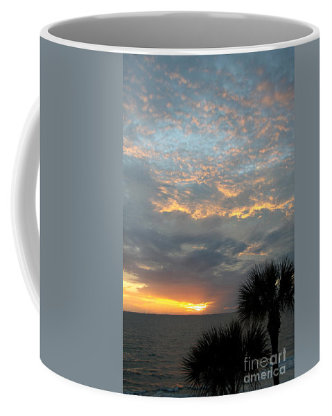 Fiery Sky Coffee Mug featuring the photograph Fiery Sky by Christiane Schulze Art And Photography