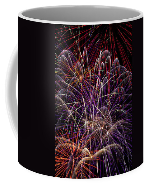 Fireworks 4th Of July Coffee Mug featuring the photograph Fireworks by Garry Gay