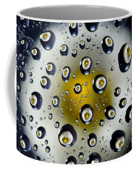 Flower Coffee Mug featuring the photograph Flowers In Water Drops by Mats Silvan