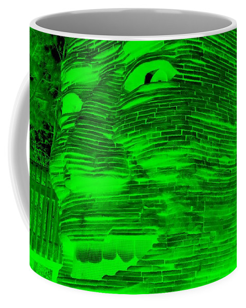 Architecture Coffee Mug featuring the photograph Gentle Giant In Negative Green by Rob Hans