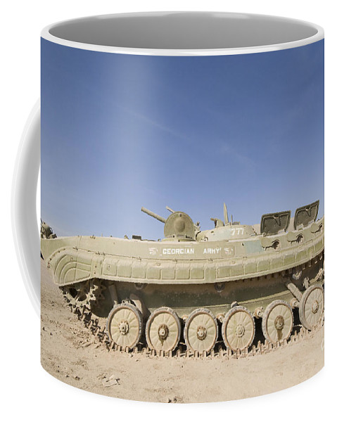 Apc Coffee Mug featuring the photograph Georgian Army Light Tank by Terry Moore