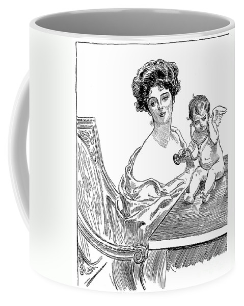 1901 Coffee Mug featuring the photograph Gibson: Gibson Girl, 1901 by Granger