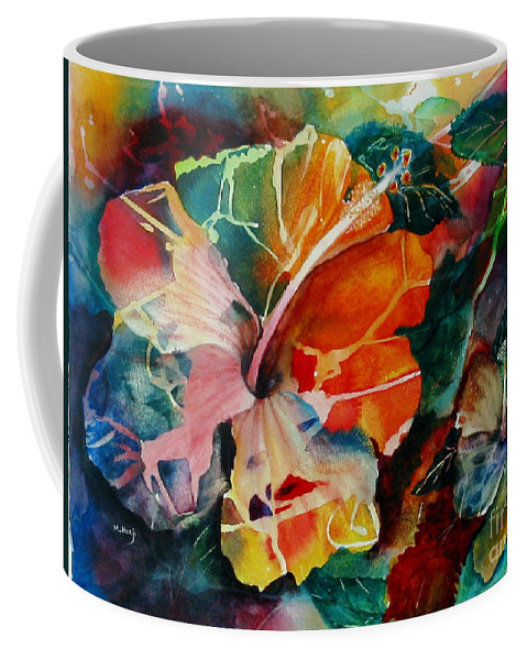 Abstarct Coffee Mug featuring the painting Glowing by Mohamed Hirji