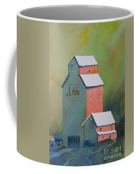 Coffee Mug featuring the painting Good Old Days by Mohamed Hirji