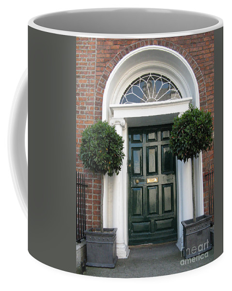 Closed Door Coffee Mug featuring the photograph Green Door by Arlene Carmel