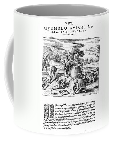 1599 Coffee Mug featuring the photograph Guiana: Gold Casting, 1599 by Granger