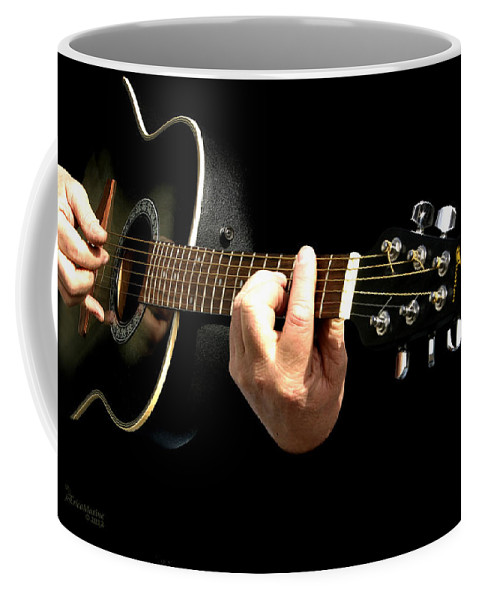 Ny Coffee Mug featuring the photograph Guitar In Hands by Ericamaxine Price