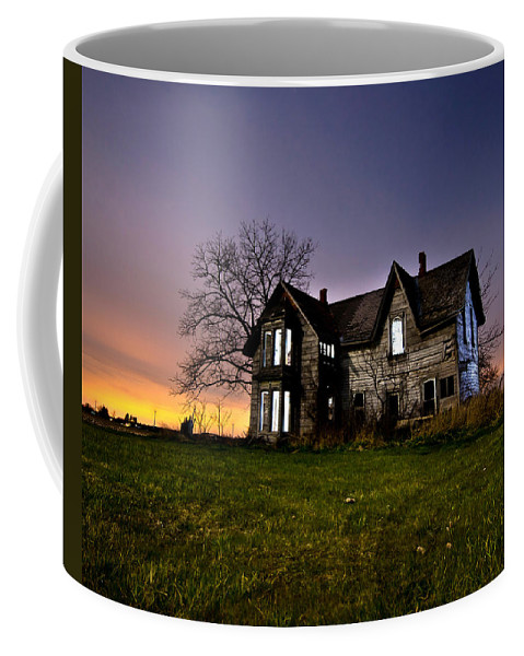 Abandoned Coffee Mug featuring the photograph Haunted House by Cale Best
