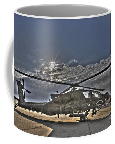 Apache Coffee Mug featuring the photograph High Dynamic Range Photo Of An Ah-64d by Terry Moore