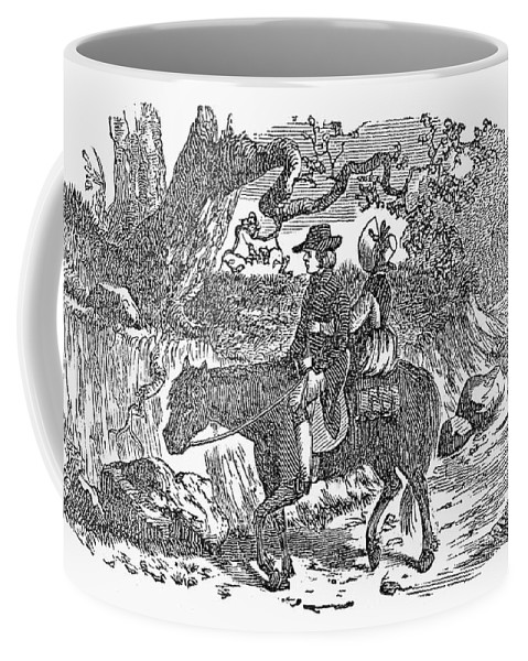 19th Century Coffee Mug featuring the photograph Horseback Riding by Granger