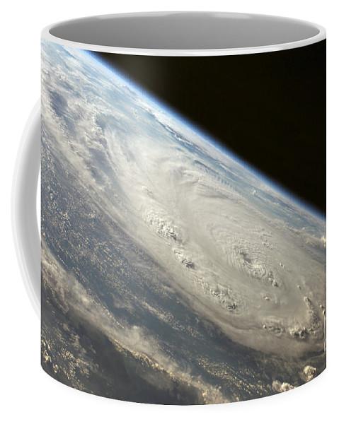 Center Coffee Mug featuring the photograph Hurricane Felix by Stocktrek Images