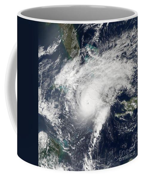 Sea Coffee Mug featuring the photograph Hurricane Paloma by Stocktrek Images