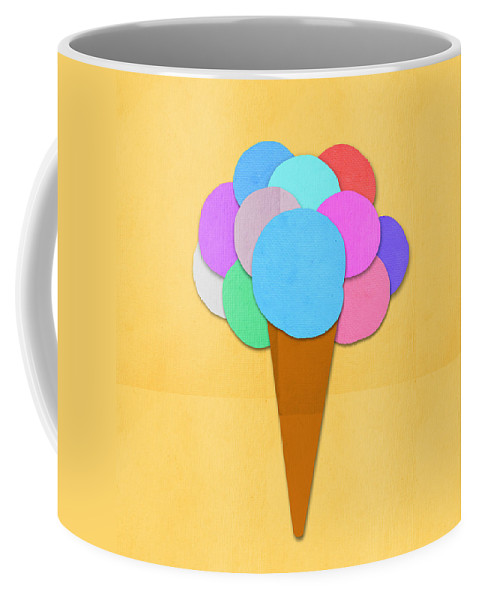 Antique Coffee Mug featuring the digital art Ice Cream On Hand Made Paper by Setsiri Silapasuwanchai