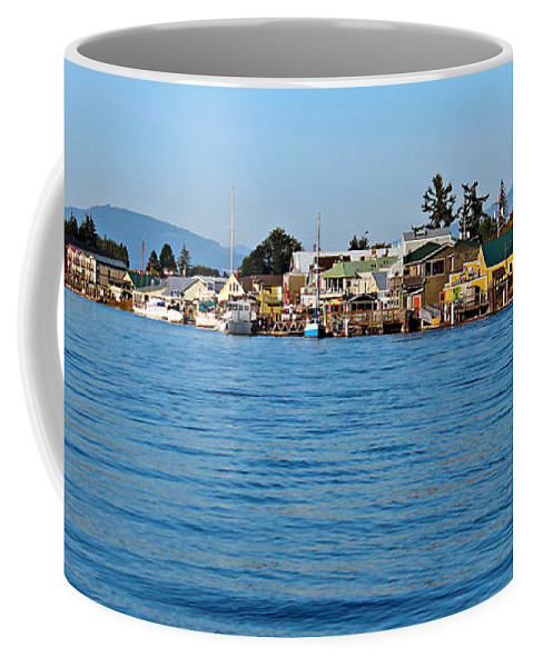 Architecture Coffee Mug featuring the photograph La Conner by Paul Fell