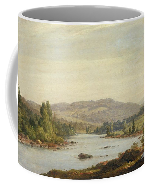 Landscape With River (scene In Northern New York) Coffee Mug featuring the painting Landscape With River by Sanford Robinson Gifford