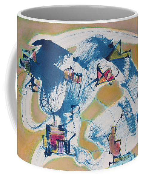 Abstract Painting Coffee Mug featuring the painting Letting Go by Asha Carolyn Young