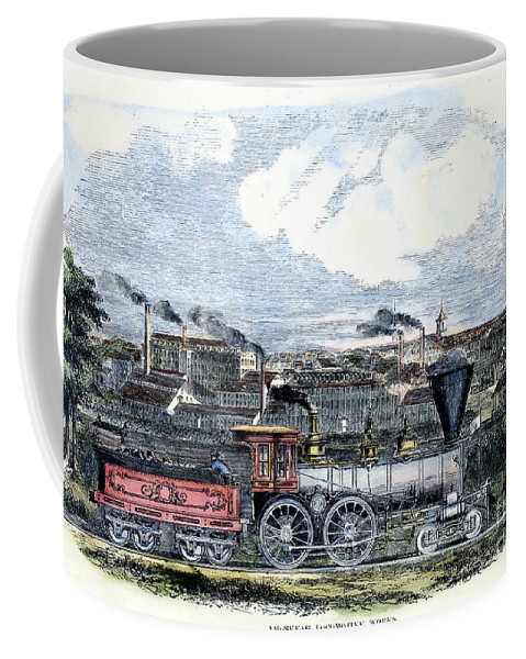 1855 Coffee Mug featuring the photograph Locomotive Factory, C1855 by Granger