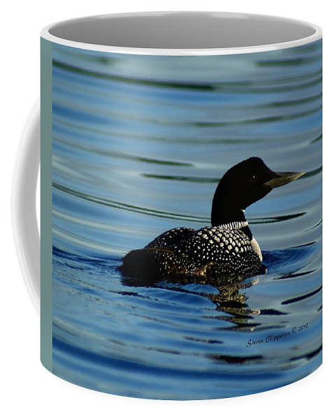 Loon Coffee Mug featuring the photograph Loon 2 by Steven Clipperton