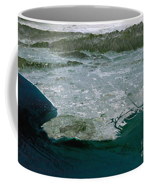 Digitally Generated Image Coffee Mug featuring the photograph Los Angeles, California by Stocktrek Images