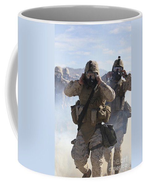 Military Coffee Mug featuring the photograph Marines And Sailors Participate In An by Stocktrek Images