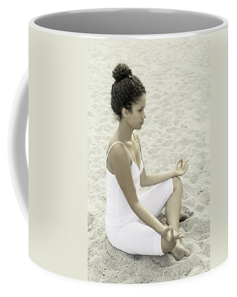 Female Coffee Mug featuring the photograph Meditation by Joana Kruse