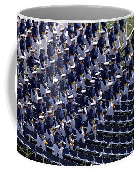 Academy Coffee Mug featuring the photograph Members Of The U.s. Air Force Academy by Stocktrek Images
