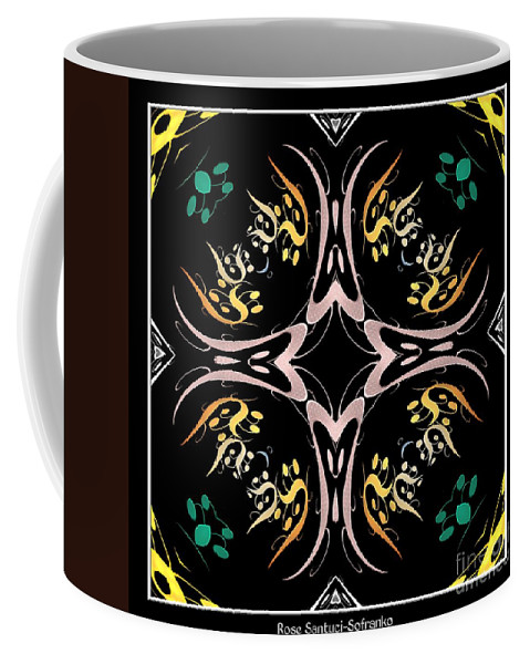Metallics Coffee Mug featuring the photograph Metallic Flourishes Warp 2 by Rose Santuci-Sofranko