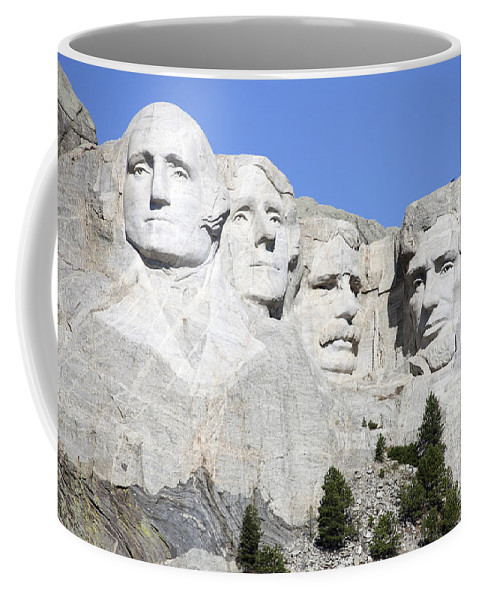 Carving Coffee Mug featuring the photograph Mount Rushmore National Memorial, South by Richard Roscoe