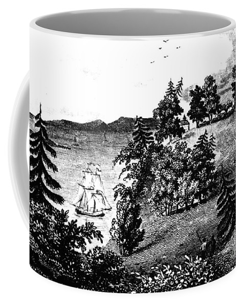 1798 Coffee Mug featuring the photograph Mount Vernon, 1798 by Granger