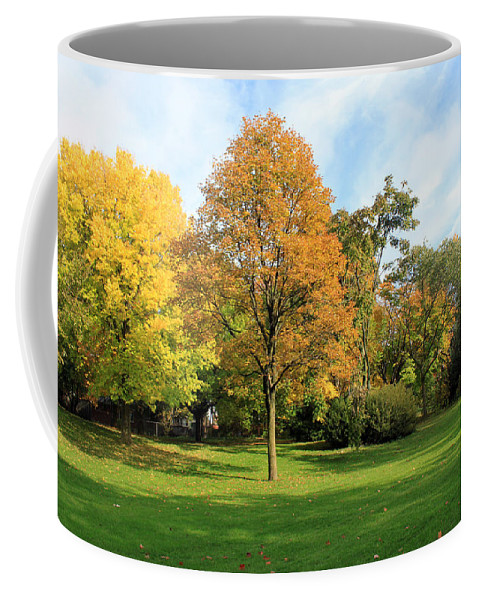Autumn Coffee Mug featuring the photograph New Day by Munir Alawi
