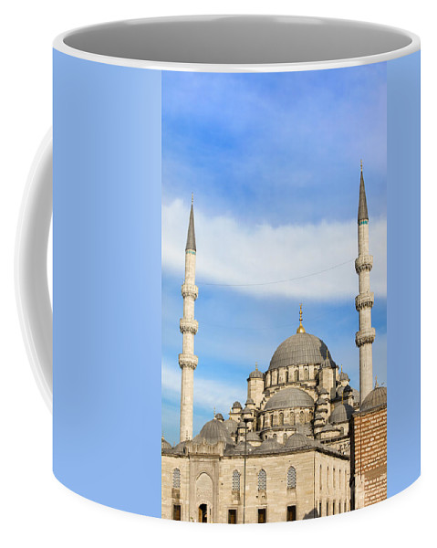 Mosque Coffee Mug featuring the photograph New Mosque In Istanbul by Artur Bogacki
