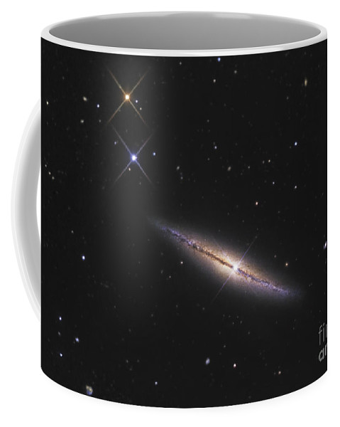 Astronomy Coffee Mug featuring the photograph Ngc 4013 Is An Edge-on Unbarred Spiral by R Jay GaBany