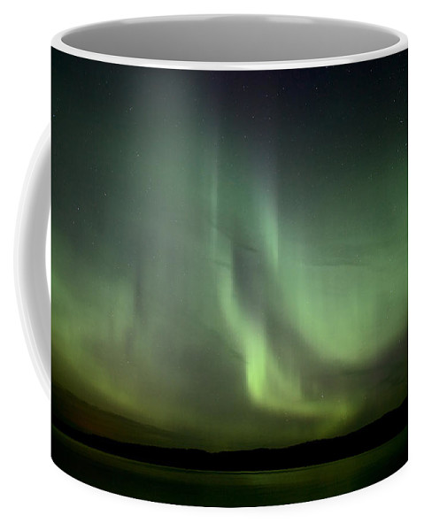 Sky Coffee Mug featuring the photograph Night Shot Northern Lights by Mark Duffy