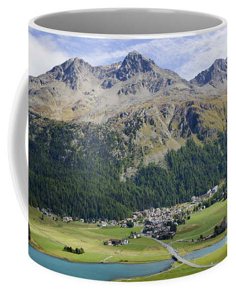 Panoramic View Coffee Mug featuring the photograph Panoramic View Over Mountain by Mats Silvan