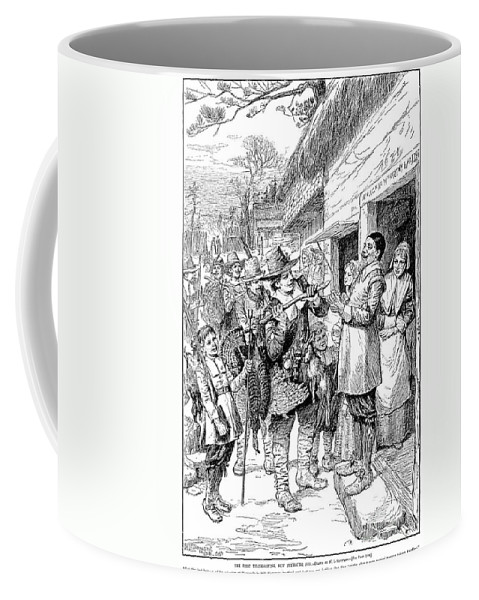 1621 Coffee Mug featuring the photograph Pilgrims: Thanksgiving, 1621 by Granger