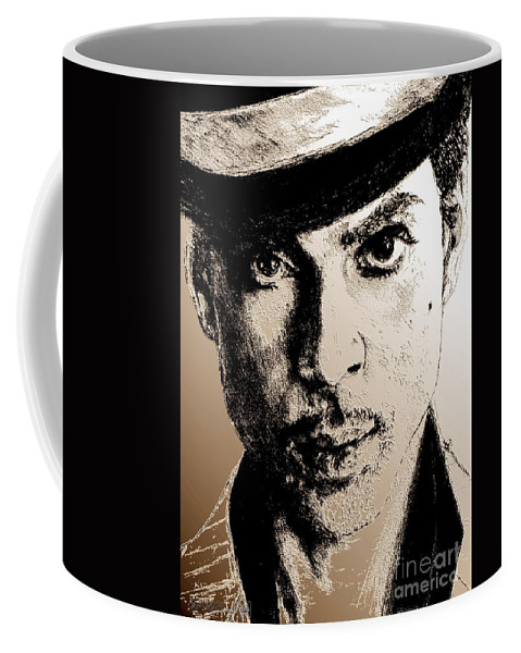 Prince Coffee Mug featuring the digital art Prince Nelson In 2006 by J McCombie