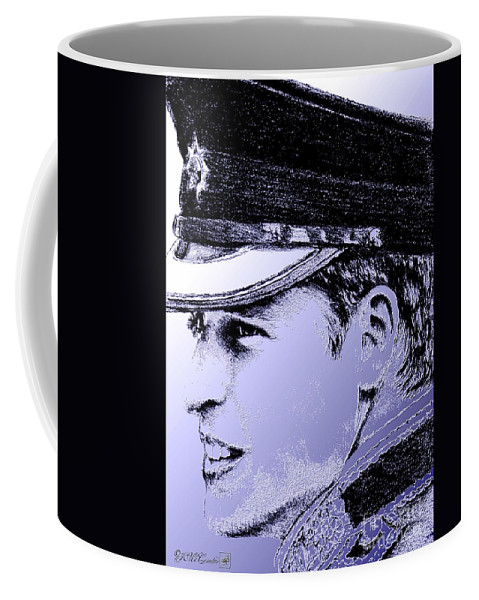 Prince William Coffee Mug featuring the digital art Prince William In 2011 by J McCombie