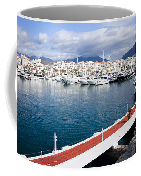 Marbella Coffee Mug featuring the photograph Puerto Banus In Spain by Artur Bogacki