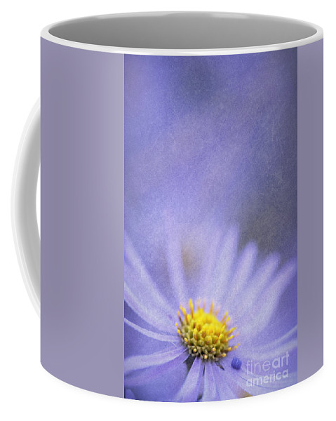 Flower Coffee Mug featuring the photograph Purple Aster by Neil Overy