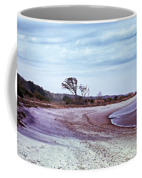 Beach Coffee Mug featuring the digital art Quiet Cove by Phill Doherty